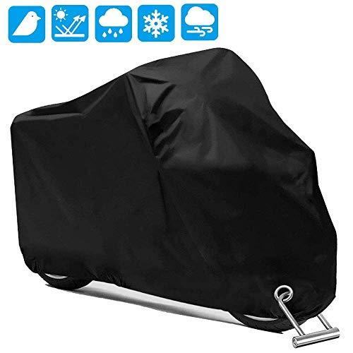 PUBAMALL Cubierta Impermeable para Motocicletas, protección contra el Polvo, escombros, Lluvia y Clima,…