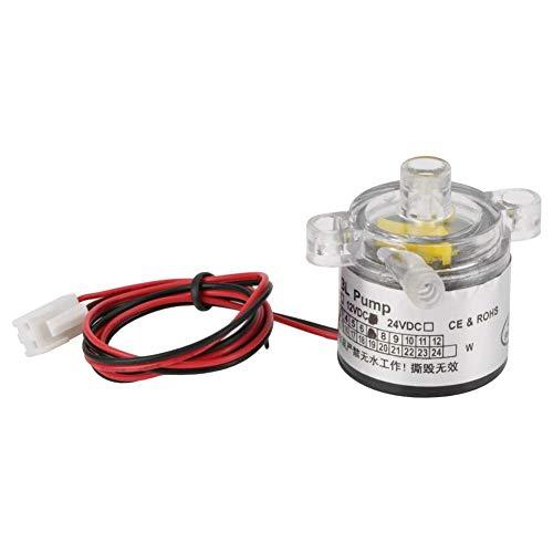 Akozon Micro Bomba de agua sin escobillas 12V 7W Ultra silencioso para equipo médico, acuario, fuente protección Ambiental