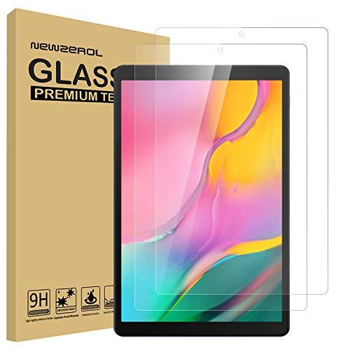 NEWZEROL [Aktualisierte Version] [2 Stück] Ersatz für Samsung Galaxy Tab A 10.1 2019 (T510 / T515) Panzerglas Schutzfolie, [Anti-Bubble] [Anti-Scratch] Bildschirmschutz - [Lebenslange Ersatzgarantie]