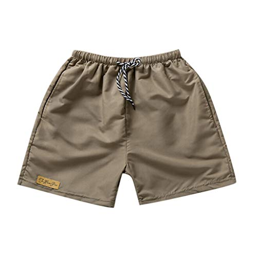 Forthery-Men Casual Athletic Shorts Outdoor Workout Big and Tall Summer Beach Shorts Swimming Shorts Trunks(Khaki,XL)