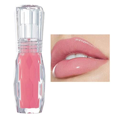 GL-Turelifes Lip Plumper Gloss Jelly Color Lipstick, Lip Plumping Balm Plumper Lip Gloss, Clear Lip Plump Gloss- Enhancer para labios más hidratados e hidratados, humecta, elimina las arrugas (#1)