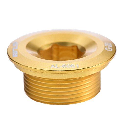 Dilwe Perno del Brazo del biela, Tornillos de biela del Brazo de biela de la aleación de Aluminio Perno de fijación del cigüeñal para el bielas de Shimano(Dorado)