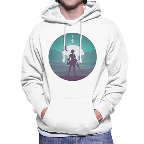 Cloud City 7 Battle Android Nier Automata Men's Hooded Sweatshirt