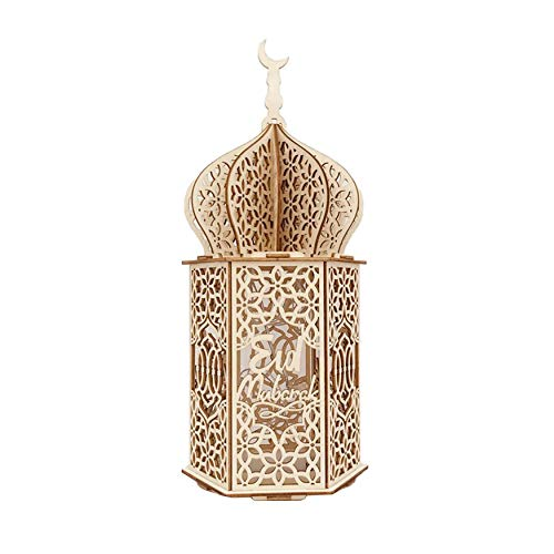 N / E Inicio 1 Pieza Musulmana de la Fiesta Decoración de Madera Led Luces del Hogar Ramadán Eid Mubarak Decoración Regalos Islámicos Fiesta Suministros accesorios para el hogar