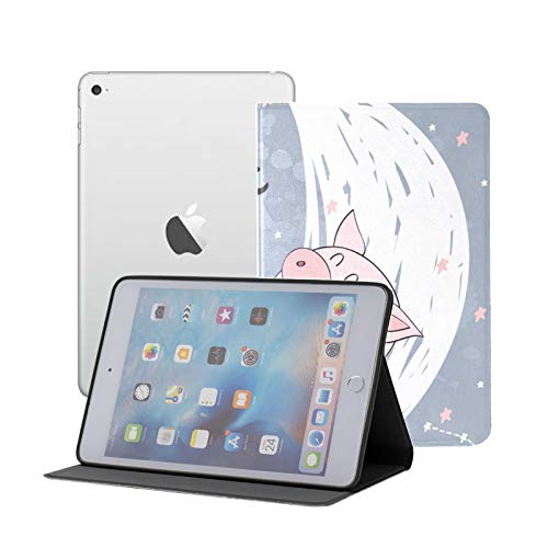 Case For Ipad Pro 11' 2020/2018 With Pencil Holder,smart Lightweight Soft Tpu Back Premium Protective Case Cover With Auto Sleep/wake Feature, Funny Pig Moon Sweet