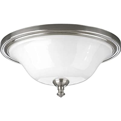 Progress Lighting P3326-09 2-Light Close-To-Ceiling Fixture, Brushed Nickel