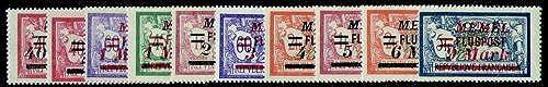 Goldhahn Memel Nr. 98-107 postfrisch Briefmarken für Sammler