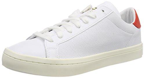 ADIDAS ORIGINALS Jugen Court Vantage Sneaker, Weiß (Ftwbla / Ftwbla / Rojsld 000), 37 1/3 EU