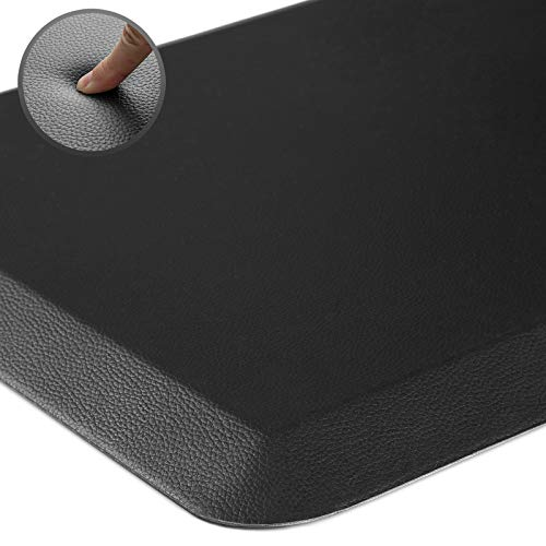Rostyle Anti Fatigue Mat for Kitchen Premium Floor Comfort Mat Kitchen Rug, 3/4 Inch Thick Standing Desk Mat for Home, Office, Non Slip and Ergonomic Cushioned Kitchen Mat, 20' x 32', Black