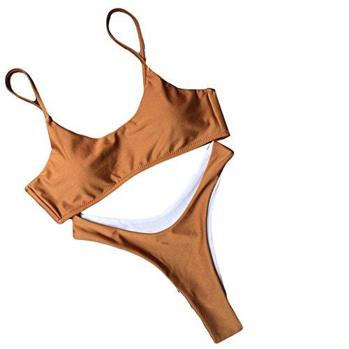 TWIFER Mädchen Triangel Bikini Set, Push Up BH Sommer Beach Badeanzug