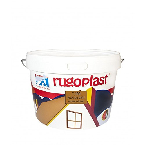 Pintura plástica mate blanca económica T-100 para paredes de interior (10 Kg) Envío GRATIS 24 h.