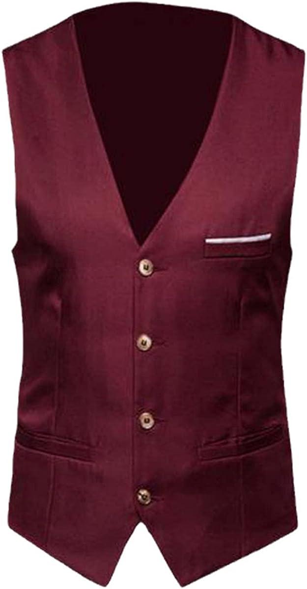 Men's vest plus size classic formal suit business solid color suit vest single-breasted business sleeveless vest