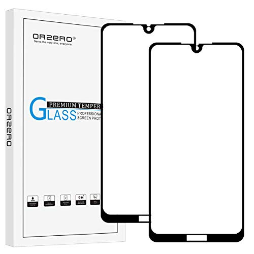 (2 Pack) Orzero Compatible for Huawei Honor 8X Max Tempered Glass Screen Protector, 2.5D Arc Edges 9 Hardness HD Anti-Scratch Bubble-Free Full-Coverage (Lifetime Replacement)
