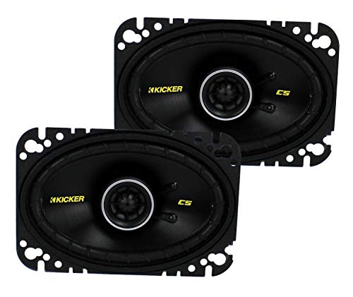 Check Out This KICKER 40CS464 4x6 CS-Series Coaxial Speakers - Pair (Black)