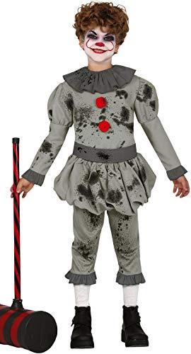 """Gruseliges Jungen-Kostüm """"Böser Horror-Clown"""", für Halloween, für Kinder im Alter von 3-12 Jahren"""
