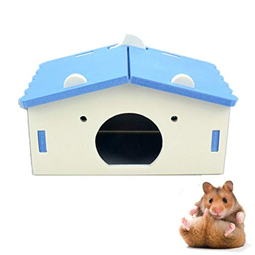 chunnron Jaula Hamster Ruso jaulas para Hamster Juguetes de Peluche Hámster Cama...
