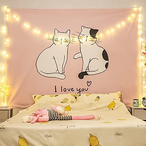 BASHSZ Schlafzimmer Ästhetisch - Indie Wandteppich Raumdekor - Kleiner Wandteppich Wandbehang - Wandteppich Für Schlafzimmer (59,1 X 78,7 Zoll)