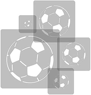 5 pcs Reusable Plastic Stencils // Soccer Ball // 13.4