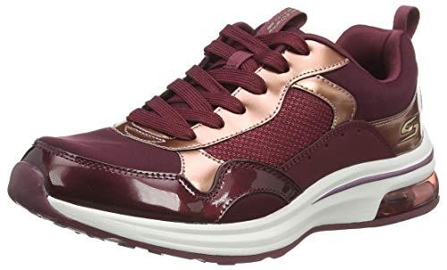 Skechers Damen Bobs Pulse Air Sneaker, burgunderfarben, 36.5 EU