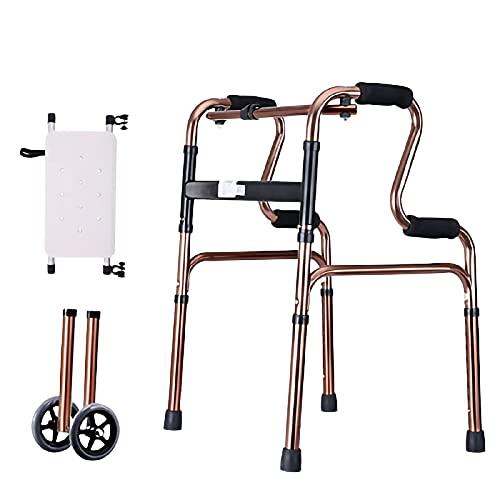 Camminatori per anziani Walkers per anziani Walker pieghevole, riquadro ausiliario di riabilitazione...