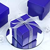 Efavormart 100 Boxes Purple 2 pcs Favor Boxes for Candy Treat Gift Wrap Box Party Favor Boxes for Bridal Shower Wedding Party