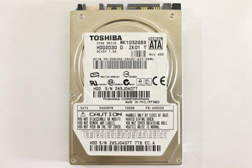 Dell HD266 MK1032GSX 2.5' SATA 100GB 5400 Toshiba Laptop Hard Drive Latitude E6400