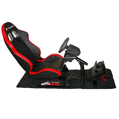Xtreme Sedile Racing Set Reclinabile con Supporto Cambio Pedaliera e Volante - Classics - PlayStation 4