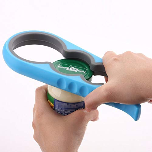 Bloss Anti-skid Jar Opener Jar Lid Remover Rubber Can Opener Kitchen Grippers To Remove Stubborn Lids, Caps and Bottles Great Kitchen Gadgets For Small Hands or Seniors,Blue