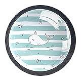 Pomos y Tiradores Infantiles Estrella de diamante delfín Tiradores para muebles cristal Pomo para muebles Tirador de armario 4 piezas para Habitación de Infantil Decoración 3.5×2.8CM