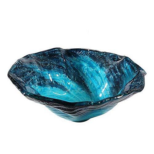 ZSDGY Bacino di vortice Blu Mare, Arte lucidata sopra Il Contro Bacino