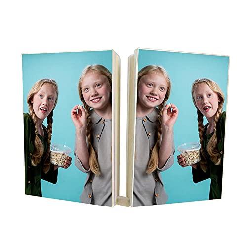 EKMON Cuaderno Personalizado , Diseño Imprima su Imagen y Texto, Diario de Viaje Bloc de Notas Arte Adecuado para Recuerdos, Bodas, Navidad, Regalo de Cumpleaños