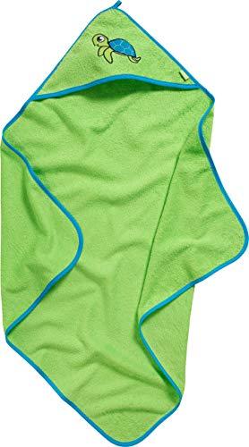 Playshoes badstof handdoek met capuchon voor kinderen, praktische capuchon voor jongens, met borduursel met schildpadsluiting