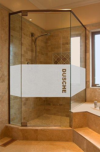 rs-interhandel® Folie Sichtschutz Aufkleber Glasdekorfolie Bad Dusche Duschwand Badezimmer Glasdekor GD34 Höhe ca. 50 cm