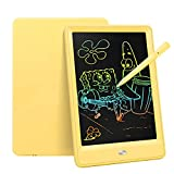 Bravokids Toys for 3-6 Years Old Girls Boys, LCD Writing Tablet 10 Inch Doodle Board, Electronic Drawing Tablet Drawing Pads, Educational Birthday Gift for 3 4 5 6 7 8 Years Old Kids Toddler (Yellow)
