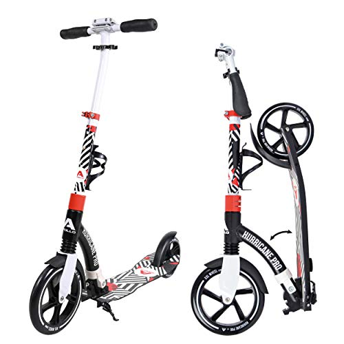 Apollo Scooter - Hurricane City Scooter, 230 mm Giant XXL Wheel con suspensión, City Roller Plegable y Ajustable en Altura, Kick Scooter para Adultos y niños