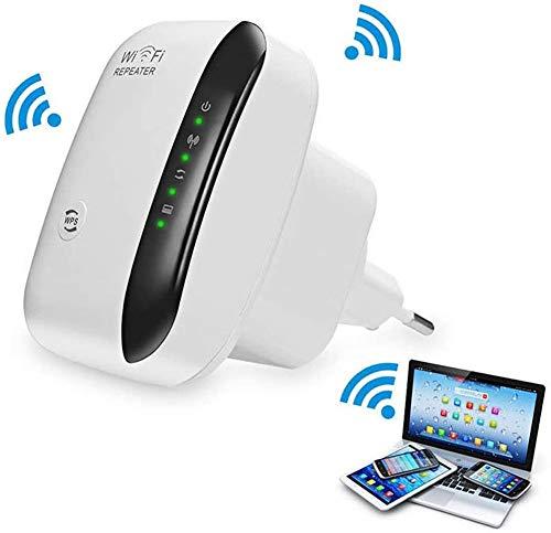 300 Mbit/s WiFi Repetidor Amplificador de señal WiFi Access Point repetidor WiFi Booster 2,4 GHz, 1 x Puerto de ethernet rápido, WPS, Compatible con Todos los Dispositivos WiFi