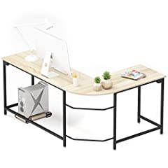 [Modern L-Shaped Computer Desk] This corner desk flaunts a modern design with round corner, which creates a workspace that is both simple and attractive. It is the perfect addition to your study room, bedroom or office, to serve as a computer desk, o...