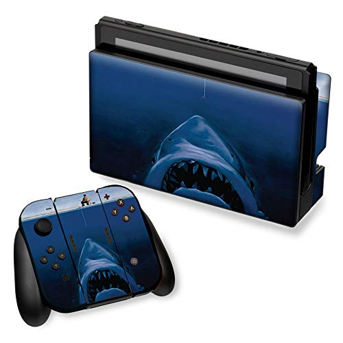 Nintendo Switch with Controller Skins Decals Vinyl Wrap - decal stickers skins cover -Jaws Great White Under Boat