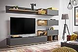 Moderner Wohnwand Nicoletta mit Led Beleuchtung Anbauwand Schrankwand 21