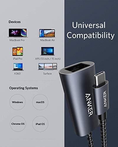 Anker PowerExpand USB-C auf Gigabit Ethernet Adapter, Aluminium, kompaktes Design, USB-C Ethernet Adapter, für MacBook Pro, MacBook Air 2018, iPad Pro 2018, XPS, und viele mehr