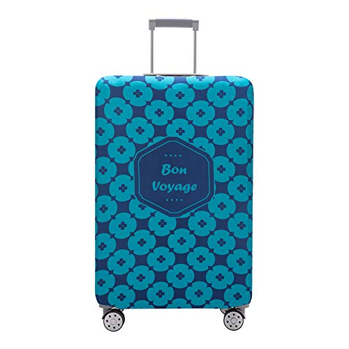 Travelkin Luggage Cover Washable Suitcase Protector Anti-scratch Suitcase cover Fits 18-32 Inch Luggage (Cyan, S)