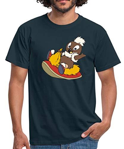 Sandmännchen Pittiplatsch Fliegt Auf Pantoffel Männer T-Shirt, S, Navy