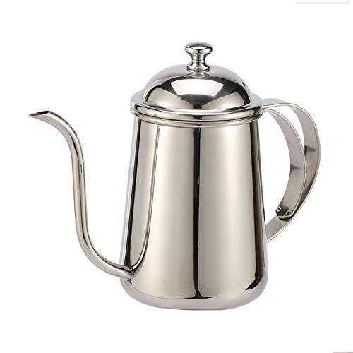 SXDY Lange schmale Ausguss-Kaffeekanne, Edelstahl-Herd Gießkanne Schwanenhals-Kaffeekanne, Abdeckungsdesign, für Kaffeemaschine und Kaffeeliebhaber