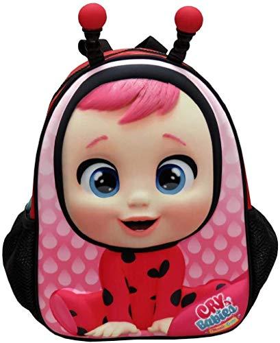 C Y P Mochila Infantil Eva 3D Bebés Llorones Lady 30x11x21 cm, Rojo (MC-201-CR)