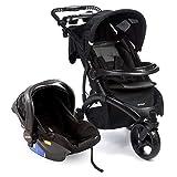Travel System Off Road Duo Onyx Com Carrinho de Bebê + Bebê Conforto - Infanti
