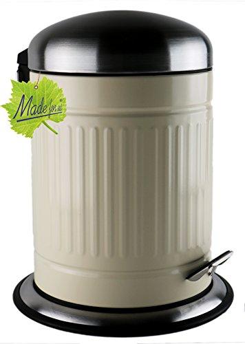 Made for us 5 L Retro Tret-Abfalleimer 50er-Jahre Mülleimer nostalgie Bad-Eimer 5 Liter Kosmetik-Eimer für Badezimmer oder Gästeklo