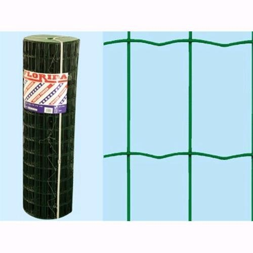 Rete Recinzione Plastificata Verde Florida 25 mt - H. 80 cm - maglia 75x50mm