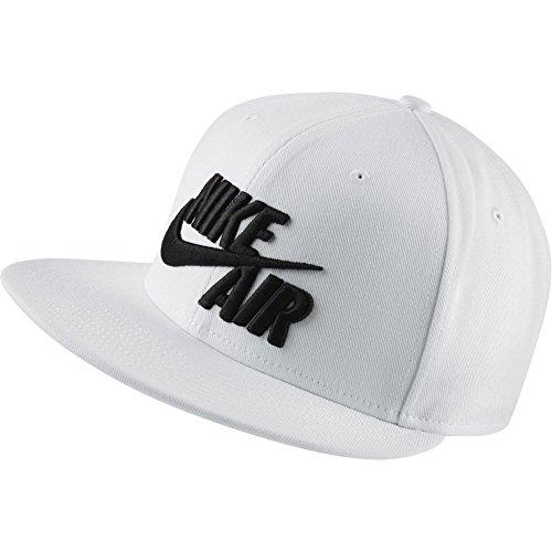 Nike Air True EOS Berretto da Uomo, Uomo, Berretto, 805063-100, Bianco (White/White/Black) (Nero), Taglia Unica