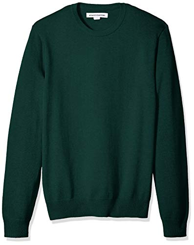 Amazon Essentials Men's Crewneck Sweater, Dark Green, Small