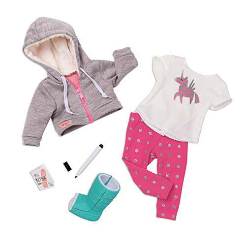 Our Generation BD30284 Deluxe Get Well Soon Outfit